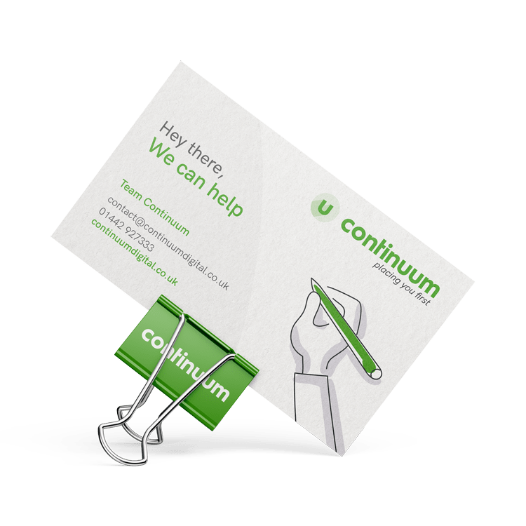 Continuum welcome business card